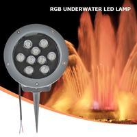 9 ワット DC12V 水中 led 噴水スパイクライト rgb IP65 防水水泳プール池ランプ庭の芝生屋外照明