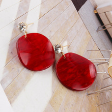 Round Circle Colorful Acrylic Earring For Women Personality Geometric Acetate Drop Dangle Earring Jewelry Accessories цена