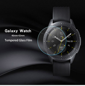 Image 4 - ギャラクシー時計3 45ミリメートル41ミリメートル2個ガラスフィルムフル強化ガラスフィルムギアS3 22ミリメートル画面保護素敵な時計
