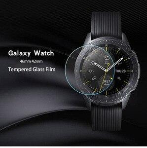Image 4 - Para galaxy watch 3 45mm 41mm 2 pces filme de vidro temperado completo filme de vidro para engrenagem s3 22mm tela protetora agradável com seu relógio