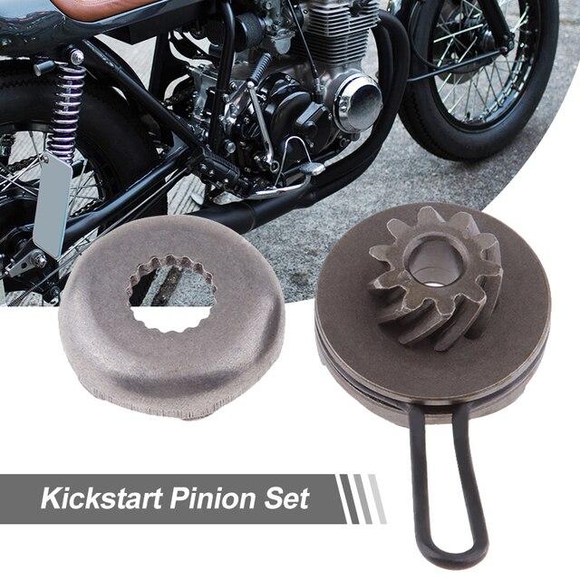 오토바이 킥 시작 피니언 기어 17 치아 키트 50cc 미나 렐리 모터 2 스트로크 Yamaha Aerox/Jog/Neos MBK Malaguti Aprilia