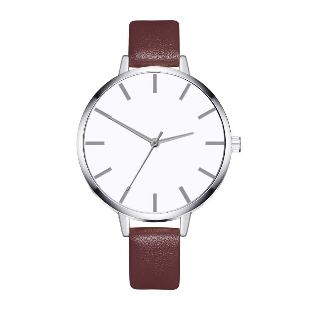 Coffee color / white / mint / pink / black / red / blue Casual ladies leather quartz business watch ZA34-YC-1