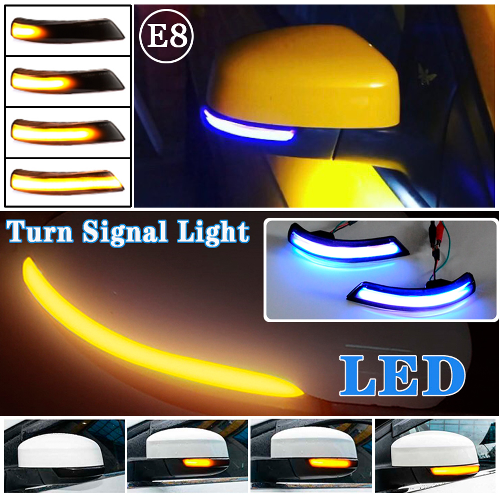 Dynamic Turn Signal Light LED Side Rearview Mirror Sequential Indicator Blinker Lamp For Ford Focus 2 3 Mk2 Mk3 Mondeo Mk4 EU