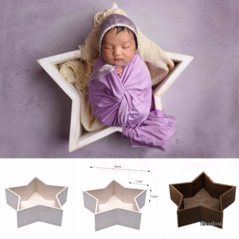 Baby Photography Prop Mini Baby Photo Bed Infantil Shooting Containers Five-pointed Star Bed Baby Posing Props Creative Props
