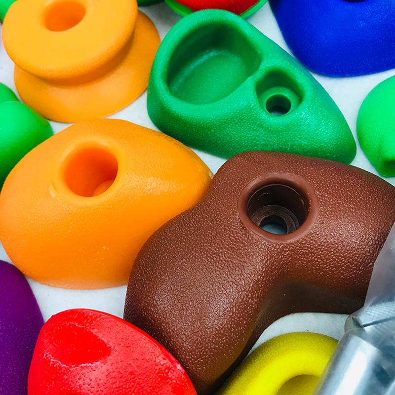 30 Pcs/Set Children Indoor Climbing Rock Playground Holds Wall Stone Kit Rock Stones Backyard Toys Kids Fitness Toys