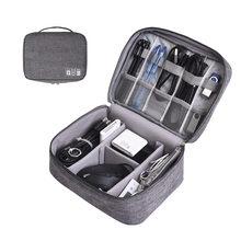 Organisateur de placard de voyage étui pour casque sac de rangement numérique Portable fermeture éclair accessoires chargeur câble de données USB cosmétiques