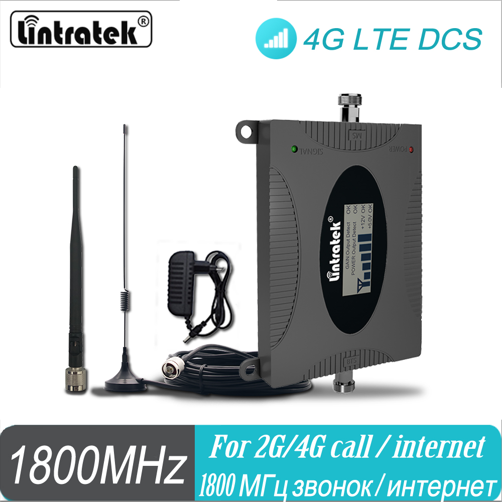 LTE Signal Amplifier Lintratek 4G 1800MHz Cellular Signal Booster B3 LTE GSM DCS 1800 Repeater Amplifier For Home Use #20