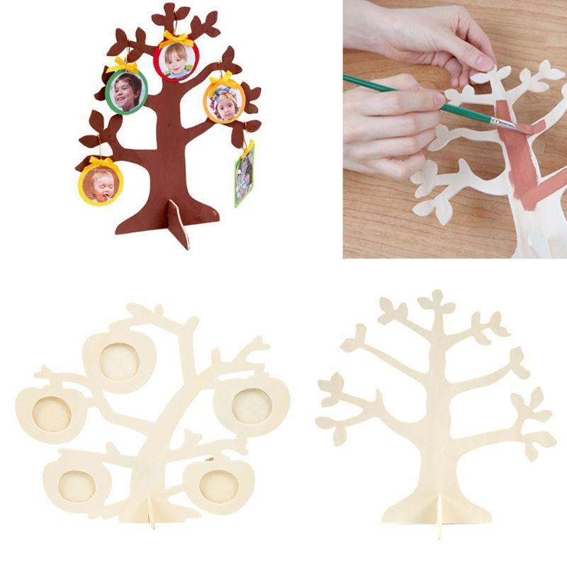 Wooden Tree Puzzle Children Manual DIY Coloring Creative Art Painting Kindergarten Boys Girls Educational Toys P31B