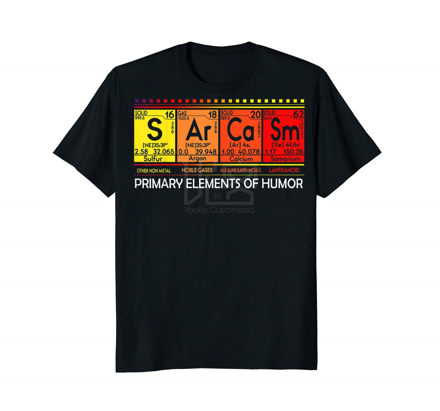 Cool Gift Sarcasm Primary Elements Of Humor S <font><b>Ar</b></font> Ca Sm Science Women Long Sleeve Funny <font><b>Shirt</b></font> Style Natural image