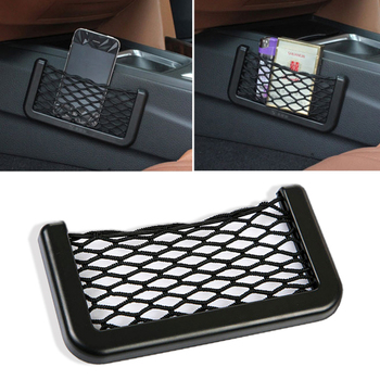 1pcs Car Organizer Storage Bag Auto Paste Net Pocket Phone Holder for M3 M5 E36 E46 E60 E90 E92 BMW X1 F48 X3 X5 X6 Accessories image