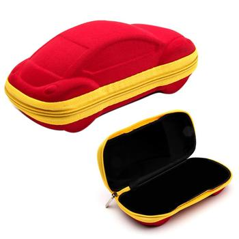 Car Shape Zip Children Kids Reading Glasses Protector Case Eyewear Storage Box image