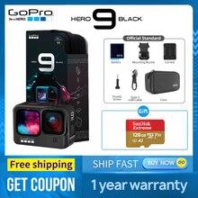 GoPro HERO 9 – caméra d'action sous-marine noire 4K 5K, avec écran avant couleur, caméra de sport, diffusion en direct de Photos 20mp, pk hero 5