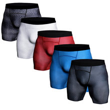 Mannen Fitness Bodybuilding Shorts 3D Snake Sexy Running Shorts Gym Shorts Joggingbroek Slim Fit Leggings Panty Mannen Workout Bodems(China)