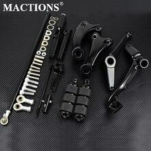 Motocykl czarny/chrom kontrole przednie kompletny zestaw kołki i dźwignie i łączniki dla Harley Sportster XL 883 1200 91 03 04 13 14 2020