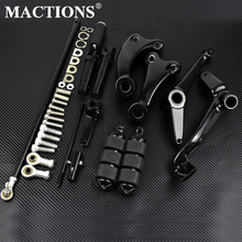 Motorcycle Black/Chrome Forward Controls Complete Kit Pegs& Levers& Linkages For Harley Sportster XL 883 1200 91 03 04 13 14 20