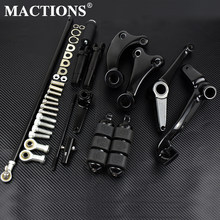 Motorcycle Black/Chrome Forward Controls Complete Kit Pegs& Levers& Linkages For Harley Sportster XL 883 1200 91-03 04-13 14-20