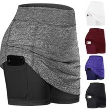 2020 активный быстросохнущая Спортивная юбка-шорты легкая юбка с карманами Юбки-карандаши с шортами внутренний Бег Теннис Одежда для гольфа