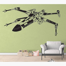 X-Wing Fighter Galaxy Wall Sticker Vinyl Combat aircraft Wall Decal Home Boys Bedroom Decor Large Wall Decor Wallpaper C992