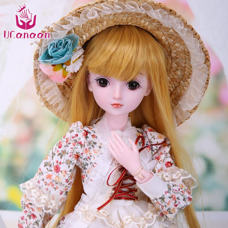 <font><b>1/3</b></font> <font><b>BJD</b></font> Doll 19 Ball Joints <font><b>SD</b></font> Dolls With Clothes Outfit Shoes Wig Hair Makeup For Girls Gift And 23.6'' Dolls Collection image