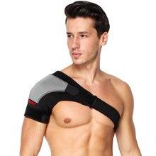 Suporte de ombro respirável ajustável bandagem protetor cinta dor articular lesão alça de ombro preto bandagem masculino/feminino