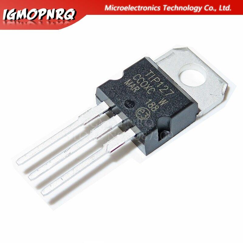 10pcs TIP127 TO-220 Darlington Transistors PNP Epitaxial Darl New Original