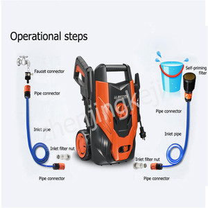 220V Pressure Washer Car hidrolavadora Home Wash Washing Machine 1400W Pump Portable idropulitrice Greenworks мойка для авто