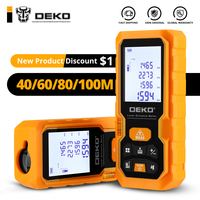 Deko DKLD05 Handheld Laser Afstandsmeter 40M 60M 80M 100M Mini Laser Afstandsmeter Laser Tape Bereik finder Diastimeter Meten