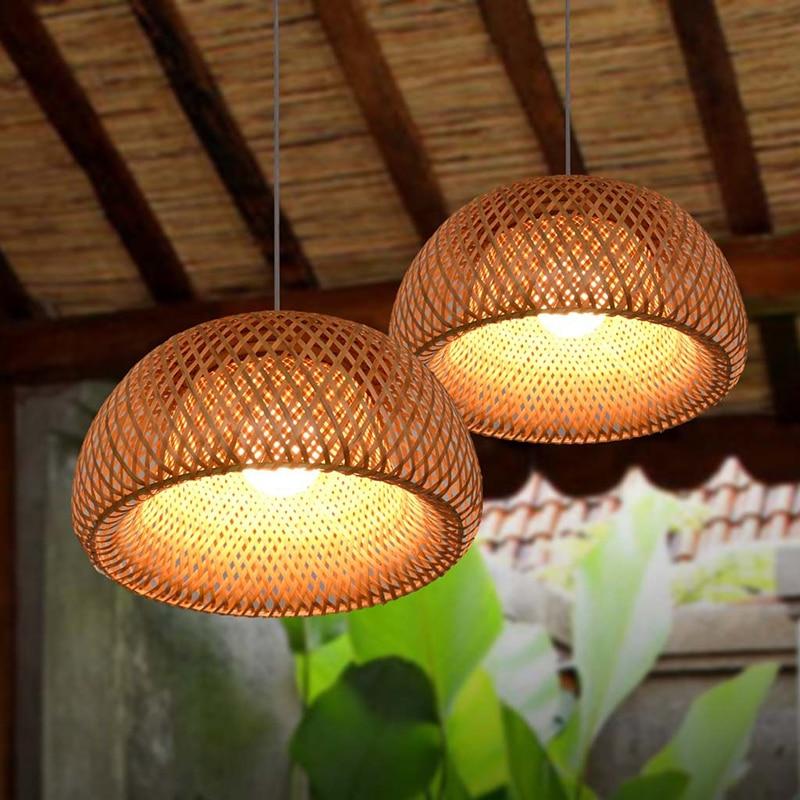 Bamboo Craft Pendant Lantern Lanterns Southeast Asian Restaurant Aisle Chandelier Living Room Tea Room Japanese Bamboo Light