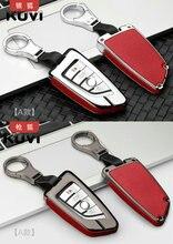 Car Key Cover Case Genuine Leather+ Galvanized for BMW X5 F15 X6 F16 G30 7 Series G11 X1 F48 F39 5-series 7-series 530li