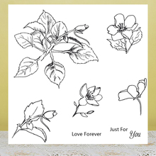AZSG Enjoy the flowers Clear Stamps For DIY Scrapbooking/Card Making/Album Decorative Rubber Stamp Crafts azsg creek in the forest clear stamps for diy scrapbooking card making album decorative rubber stamp crafts