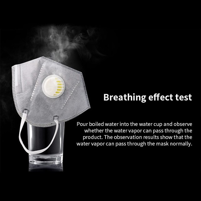 5PCS PM2.5 Anti Air Dust Smoke Pollution Mask Activated carbon filter Windproof Mouth-muffle bacteria proof Flu Face masks Care 4