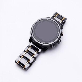 20mm 22mm Ceramic bracelet For Amazfit Stratos pace 2/2S Replacement Strap For Amazfit GTS/GTR /Amazfit Bip/Lite /Amazfit pace