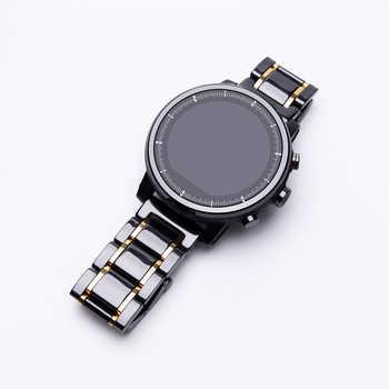 Bracelet céramique 20mm 22mm pour Amazfit Stratos pace 2/2S bracelet de remplacement pour Amazfit GTS/GTR /Amazfit Bip/Lite /Amazfit pace