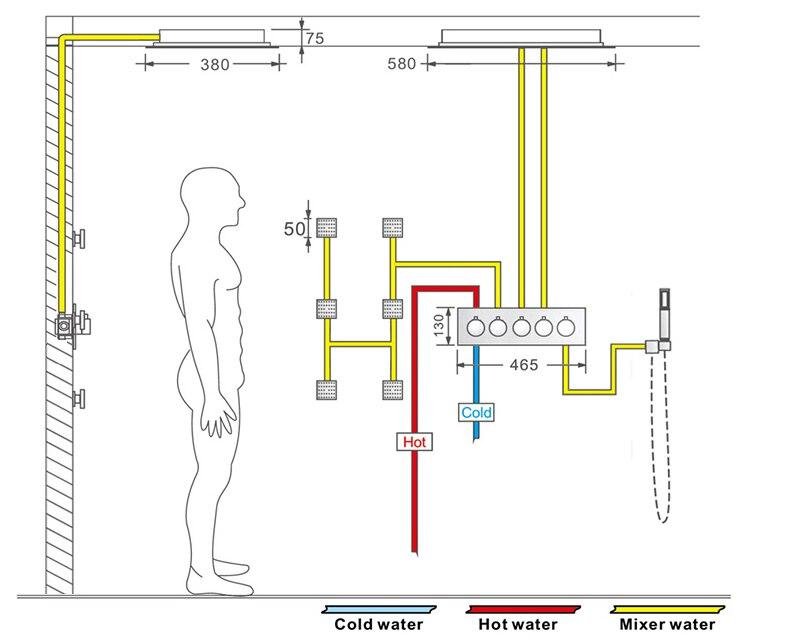 H8b942e47a9d746f6a22c5b7cff2409ffH M Boenn Music Shower System Rain ShowerHeads LED Shower Set Bathroom Faucet Thermostatic Valve Matte Black/Chrome Bath Mixer Tap