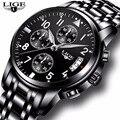 2019 LIGE мужские часы Топ бренд класса люкс мужские водонепроницаемые кварцевые деловые часы мужские повседневные спортивные наручные часы ...