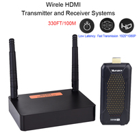 2.4GHz/5GHz FHD656 Mini 1080P 100m Wireless HDMI Audio Video Sender Transmitter Receiver Extender Support HDCP1.4 HDTV Projector