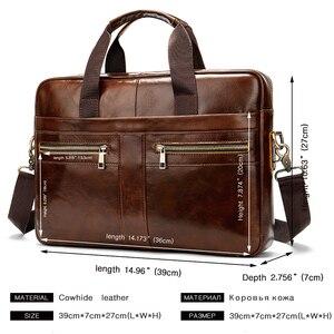 Image 3 - WESTAL Bag mens Genuine Leather briefcase Male man laptop bag natural Leather for men Messenger bags mens briefcases 2019
