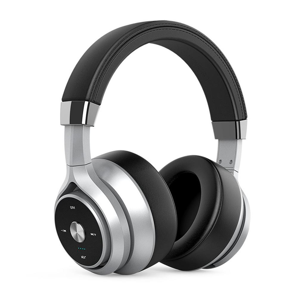 Wireless Headphones Foldable Headset Stereo HiFi Bass Earphones Noise Reduction Double Moving Coils EQ Mode