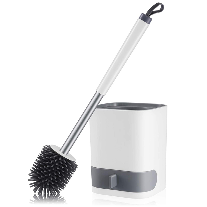 Escova e Suporte do Toalete de Gtbl Macia do Silicone com Gaveta Decomposable e da Água Escova Revestimento Parede Montada –