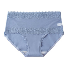 Hollow Out Lace Briefs Antibacterial Cotton Underpants High Waist Panties Women's Lingerie Breathable Underwear Female Intimates