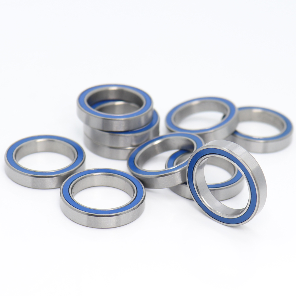 <font><b>6702RS</b></font> Bearing 10PCS 15x21x4 mm ABEC-3 Hobby Electric RC Car Truck 6702 RS 2RS Ball Bearings 6702-2RS Blue Sealed image
