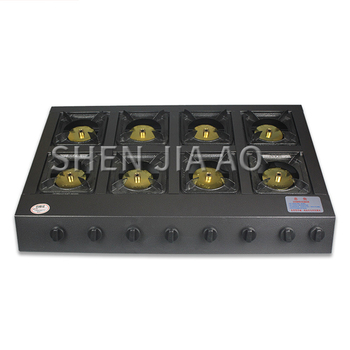 Commercial cooking multi-head gas stove Energy-saving eight-heads fire stove Natural gas liquefied gas stove for restauran/hotel