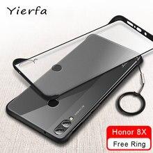 Honor 8X étui sans cadre mat couverture transparente pour Huawei Honor 8 X étui Silicone protection pare chocs pour Huawei Honor 8X étuis