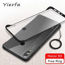 Honor 8x caso sem moldura fosco transparente capa para huawei honor 8 x caso silicone protetor para huawei honor 8x casos