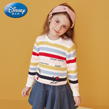 Disney Childrens Sweater Girl Knitted 2019 New Baby Top Minnie Kids Sweaters Mickey Mouse Clothing Girls