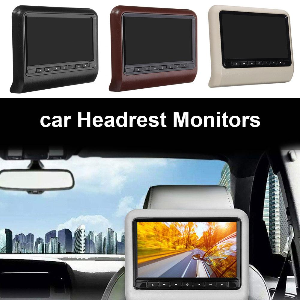 Car Seat Back Headrest LCD Display 9 Inch Remote Control DVD Player Monitor Car Headrest Monitor Rear Seat Entertainment Player