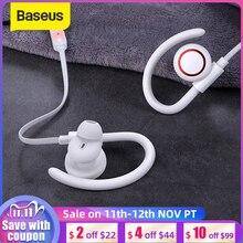 Baseus S17 סטריאו Bluetooth אוזניות נגד שפיכת אוזן וו IPX5 עמיד למים ספורט אלחוטי אוזניות עם מגנטי ספיחה
