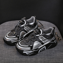 Women Platform Chunky Sneakers Running Sports Basket Female Black INS Ulzzang Br
