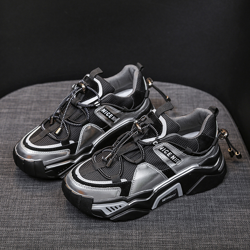 Women Platform Chunky Sneakers Running Sports Basket Female Black INS Ulzzang Brand Fashion Woman Casual Shoes Dad Shoes 5cm