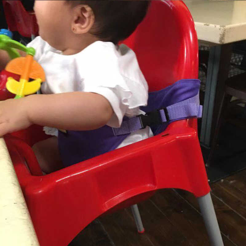 เด็กทารกเด็กวัยหัดเดินเด็กเด็กแบบพกพาเก้าอี้รับประทานอาหาร Travel ซักผ้าพับได้ความปลอดภัยเข็มขัดเข็มขัดเสริม